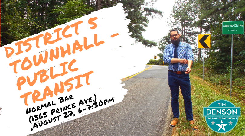District 5 Townhall on Public Transit at Normal Bar on August 27 at 6pm