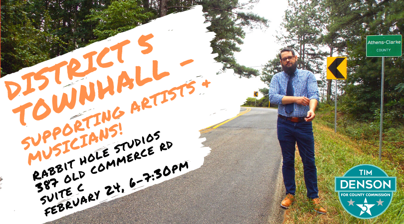 District 5 Townhall - Supporting artists and musicians