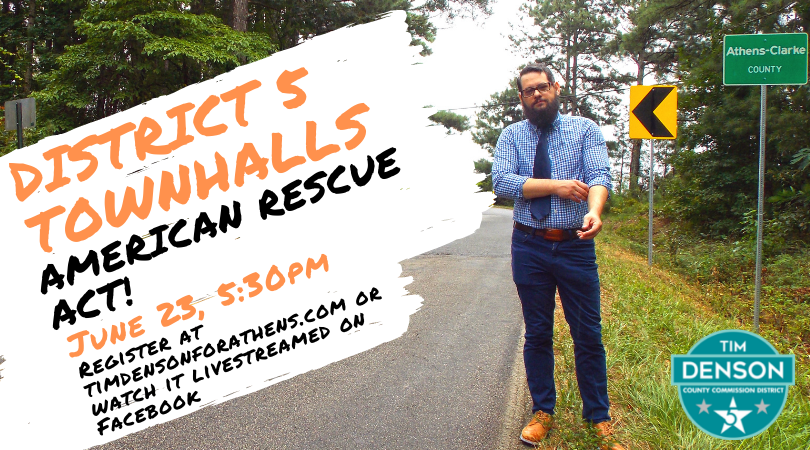 District 5 Townhall - American Rescue Act Athens