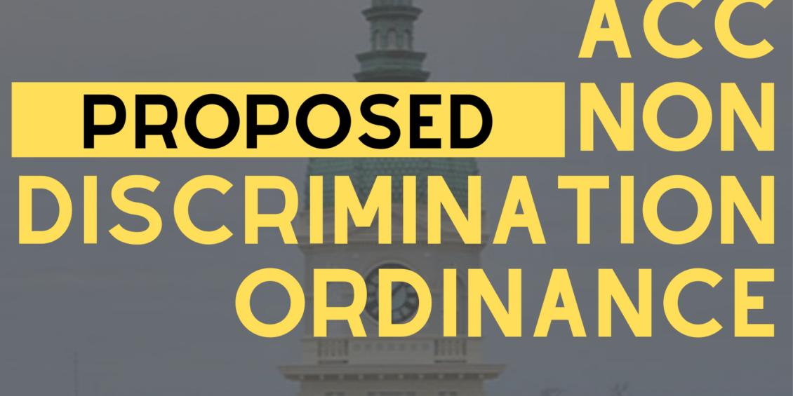 ACC considering a proposed non-discrimination ordinance