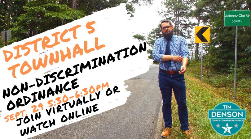District 5 Townhall - Non-Discrimination Ordinance