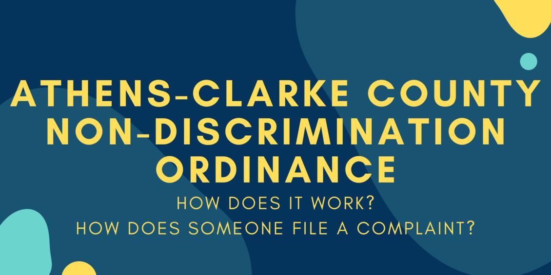 ACC Non Discrimination Ordinance